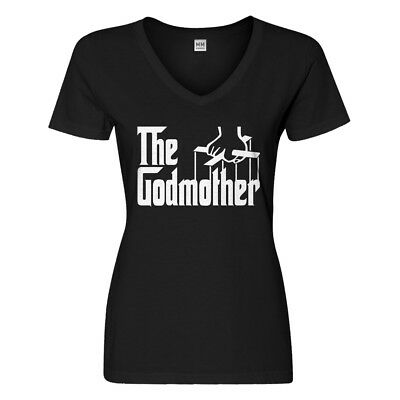 Womens The Godmother V-Neck T-shirt #3078