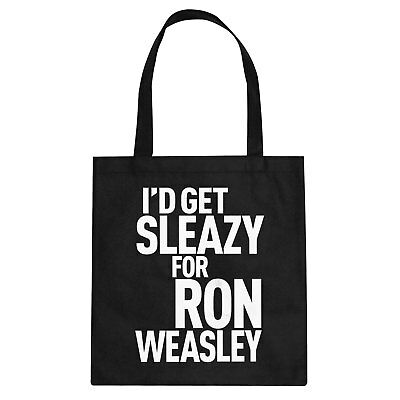 Tote Id Get Sleazy for Ron Weasely Cotton Canvas Tote Bag #2006
