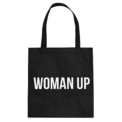 Tote Woman Up Cotton Canvas Tote Bag #3311