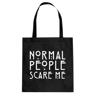 Tote Normal People Scare Me Cotton Canvas Tote Bag #3085