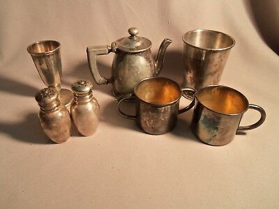 Vintage 7 Silver Plate Hotel Ware Serving Pieces