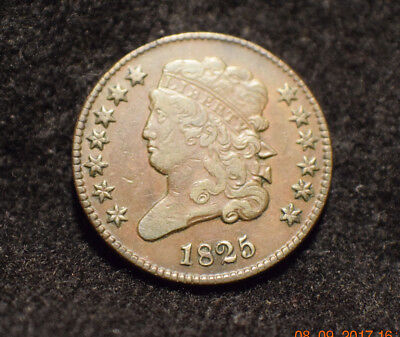 1825 1/2C 13 Stars BN Classic Head Half Cent....only 63,000 minted.....#63