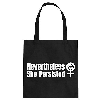 Tote She Persisted Cotton Canvas Tote Bag #3192
