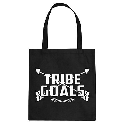 Tote Tribe Goals Cotton Canvas Tote Bag #3277