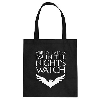 Tote Sorry Ladies Nights Watch Cotton Canvas Tote Bag #3419