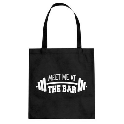 Tote Meet me at the Bar Cotton Canvas Tote Bag #3092