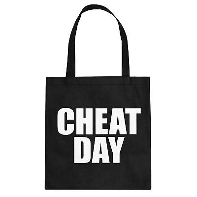 Tote Cheat Day Cotton Canvas Tote Bag #3413