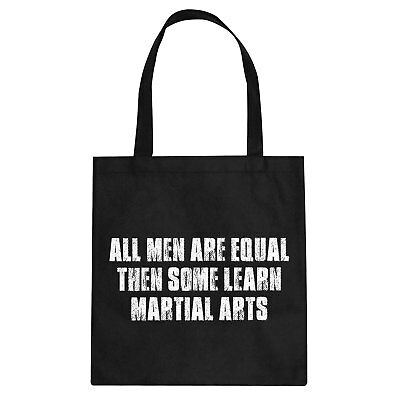 Tote All Men Are Created Equal Cotton Canvas Tote Bag #3387