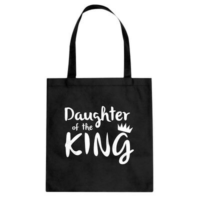 Tote Daughter of the King Cotton Canvas Tote Bag #3374