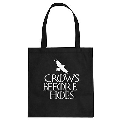 Tote Crows Before Hoes Cotton Canvas Tote Bag #3421
