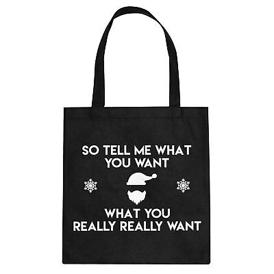Tote Tell me what you want Cotton Canvas Tote Bag #2015