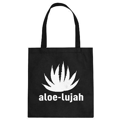 Tote Aloe-lujah Cotton Canvas Tote Bag #3358