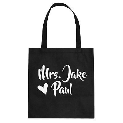 Tote Mrs Jake Paul Cotton Canvas Tote Bag #3422