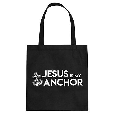 Tote Jesus is My Anchor Cotton Canvas Tote Bag #3392