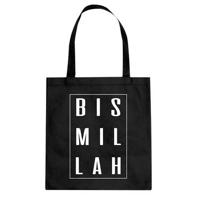 Tote Bismillah Cotton Canvas Tote Bag #3394