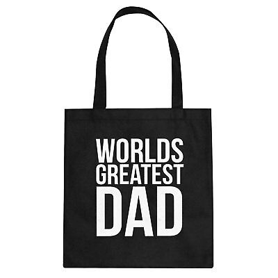 Tote Worlds Greatest Dad Cotton Canvas Tote Bag #3395