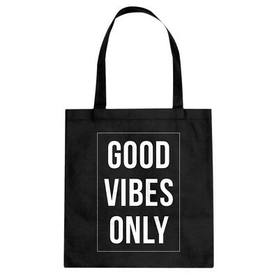 Tote Good Vibes Only Canvas Shopping Bag #3380