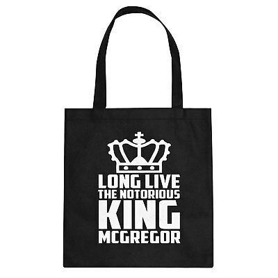 Tote Long Live the King Cotton Canvas Tote Bag #3420