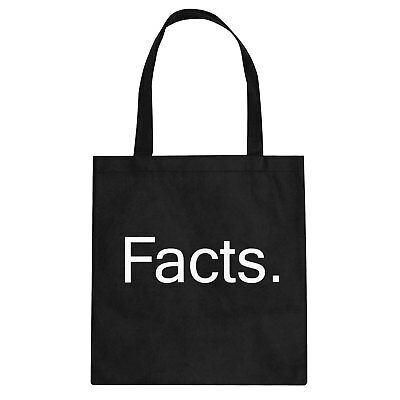 Tote Facts. Canvas Shopping Bag #3418