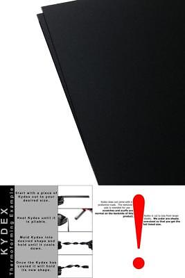 "2 Pack Kydex Plastic Sheet Black 12"" X 12"" X 1/16"" Acrylic PVC Alloy Supply Kit"
