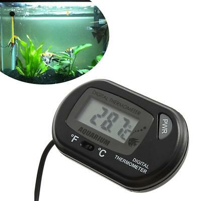 LCD Digital Fish Tank Reptile Aquarium Water Meter Thermometer Temperature U^