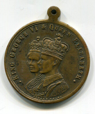 1937 King George Vi And Queen Elizebeth Medal In Commemoration Of The Coronation