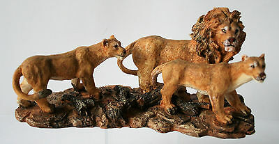 LION FAMILY Figurine Statue NEW