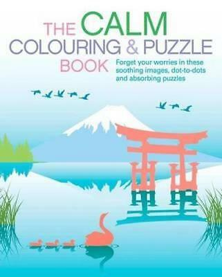NEW The Calm Colouring and Puzzle Book Paperback Free Shipping