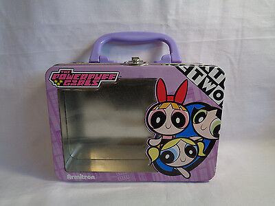 2001 Cartoon Network Powerpuff Girls Tin Purse w/ See Through Window - RARE