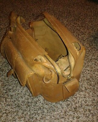 Antique Leather Doctor Bag, Vintage Leather Bag, Primitive Doctor Bag. Very Old.