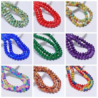 71 Colors Selectable 6x8mm Rondelles Crystal Beads Jewelry Accessories