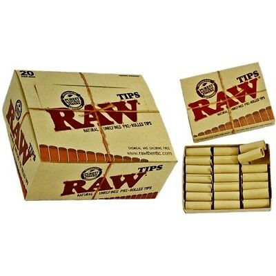 2x Packs ( RAW Pre-Rolled Tips ) Natural Unrefined Chemical & Chlorine Free
