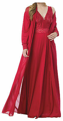 NEW Amoureuse Robe and Gown Sleepwear Nightgown Set (Plus Sizes Available)