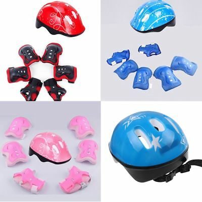 7 xKnee Pad Kids Protective Gear Set Elbow Wrist Support Child Roller Skating CA