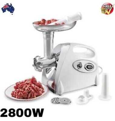 2800W Electric Meat Grinder Sausage Stuffer Maker Stainless Cutter Home