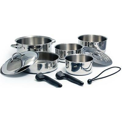 Kuuma 10-Piece Stainless Steel Nesting Cookware Set - Induction Compatible