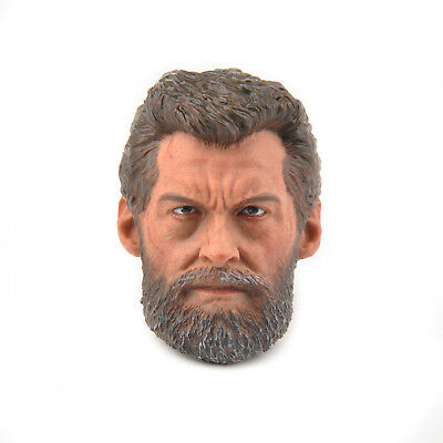 """1/6th Logan Head Sculpt Carving Wolf Uncle Model For 12"""" Male Action Figure Doll"""