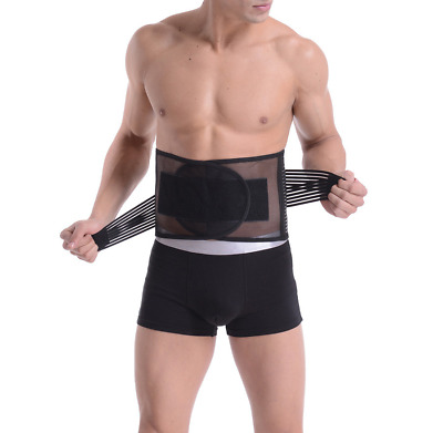 Double Pull Breathable Lumbar Lower Bad Back Pain Posture Support Belt Brace A