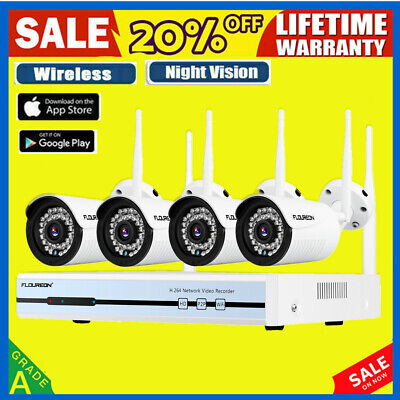 1080P 2MP Wireless Wifi CCTV Security IP Camera System IR Night Vision SD H.264
