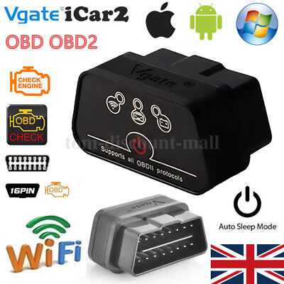 Vgate ICar 2 WIFI Version ELM327 OBD2 Code Reader ICar2 For Android / IOS / PC