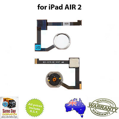 Home Button Assembly with Flex Cable - SILVER for iPad AIR 2 & iPad MINI 4
