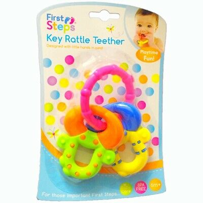 Baby Teething Ring Rattle Teether Key BPA Free Toy 6 months+ (2)