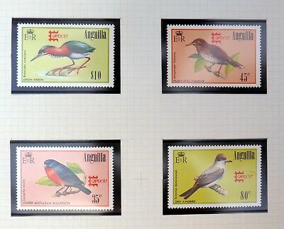 ANGUILLA 1987 Birds Capex OPT's U/M NB3325