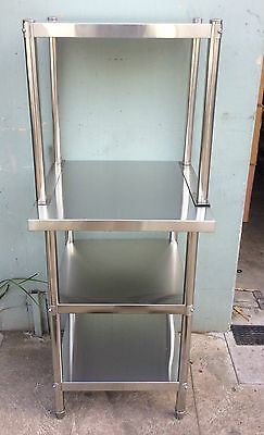 Brand New Stainless Steel Bench with Overshelving 900x600x900x600x450x580 mm