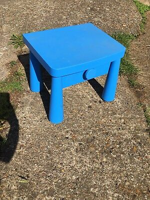 Ikea mammut blue bedside table