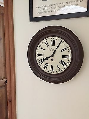 Rare Vintage Metal Wind Up Clock & Key Late 19th Century J Puches Vukovar