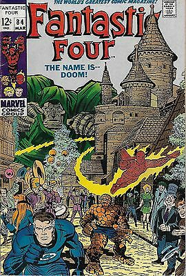 "*MARVEL (1969) FANTASTIC FOUR #84 - ""The Name is -- Doom!""  -- 6.5 FN+"