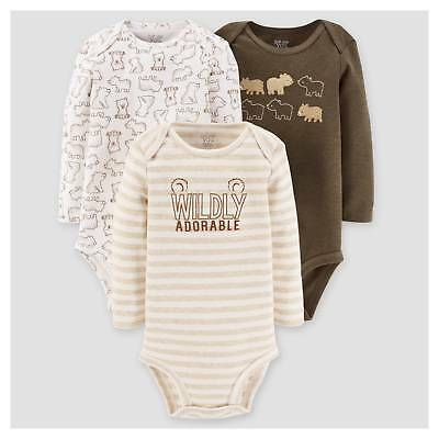 Just One You™ Made by Carter's® Baby Boys' 3pk Long Sleeve Bears Bo...