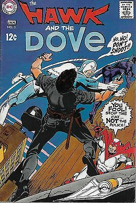 """DC (1969) THE HAWK AND THE DOVE #3 - """"After the Cat"""" -- 8.0 VF"""