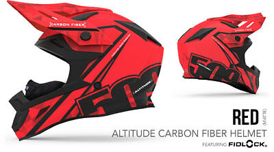 2018 - 509 Altitude Carbon Fiber Snowmobile Helmet Red Small 509-Hel-Acr-Sm